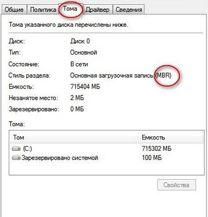 Кодировка диска
