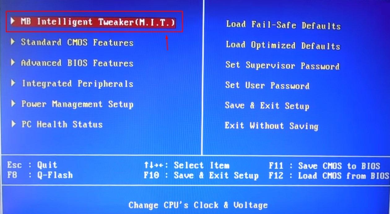 Разгон процессора через bios инструкция