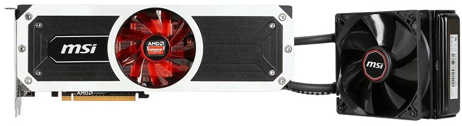 Вид спереди Radeon R9