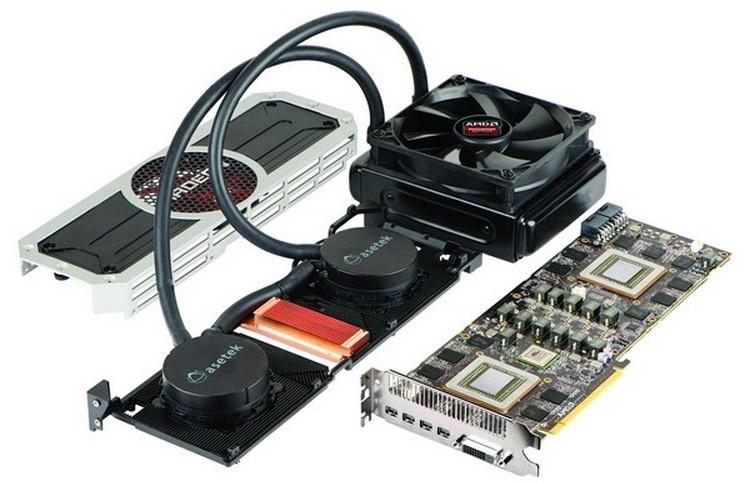 Видеокарта Radeon R9 в разобранном состоянии
