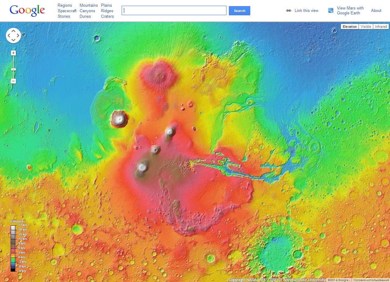 Сервис Google Mars