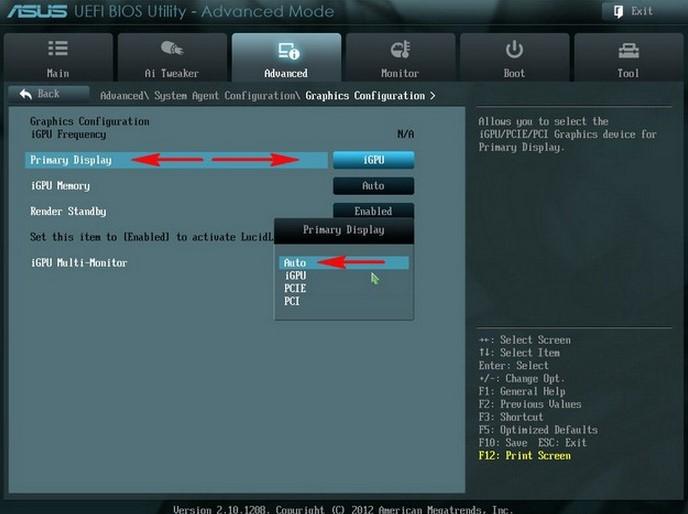 Установка параметров на видеокарту