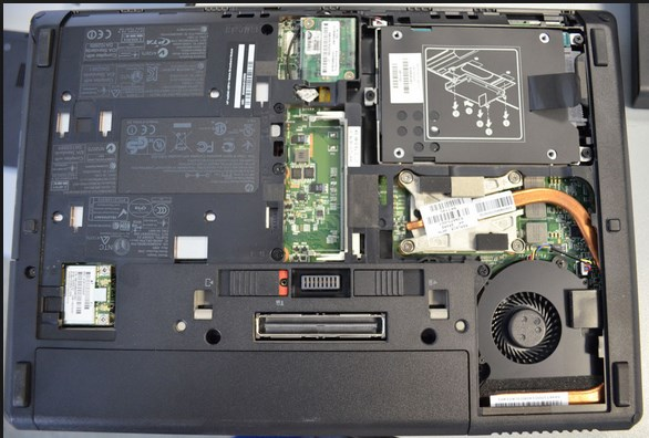 Ноутбук без задней крышки