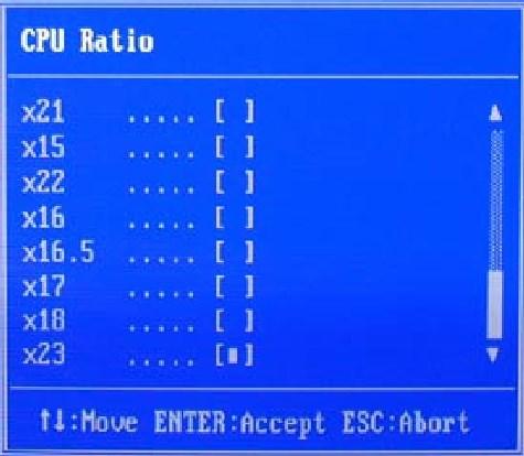 Выбор множителя процессора