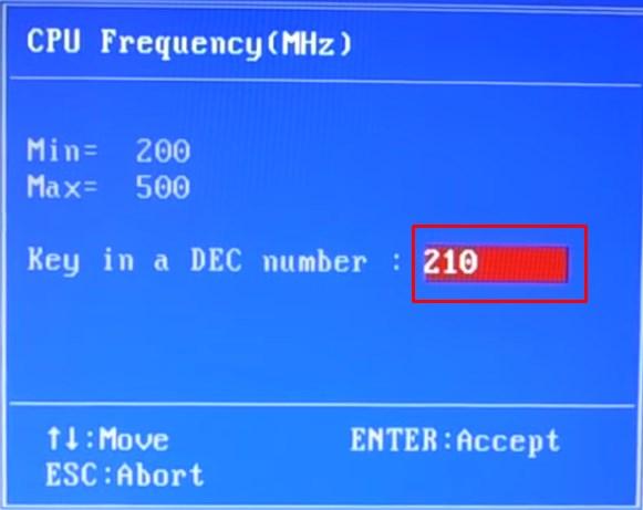 Задание Частоты генератора
