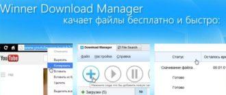 Программа Winner Download Manager
