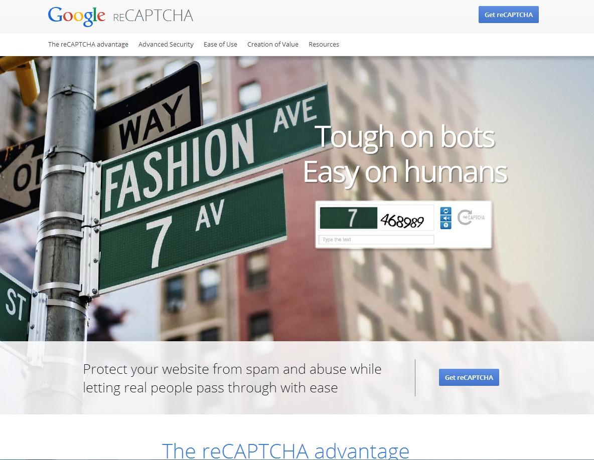 Сервис Google reCAPCHA