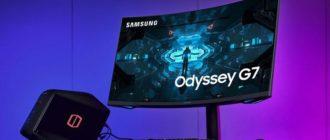 Новый самый изогнутый игровой монитор от Samsung - Odyssey G7